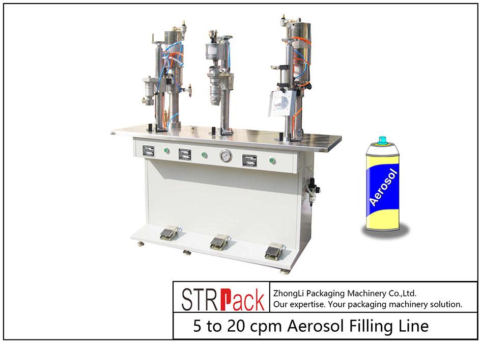 Yarim avtomatik aerozol bilan to'ldirish mashinasi