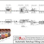 Ketchupni avtomatik to'ldirish liniyasi