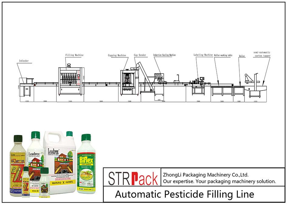 Pestitsidlarni avtomatik to'ldirish liniyasi